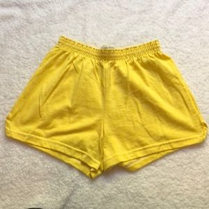 Soffe yellow shorts